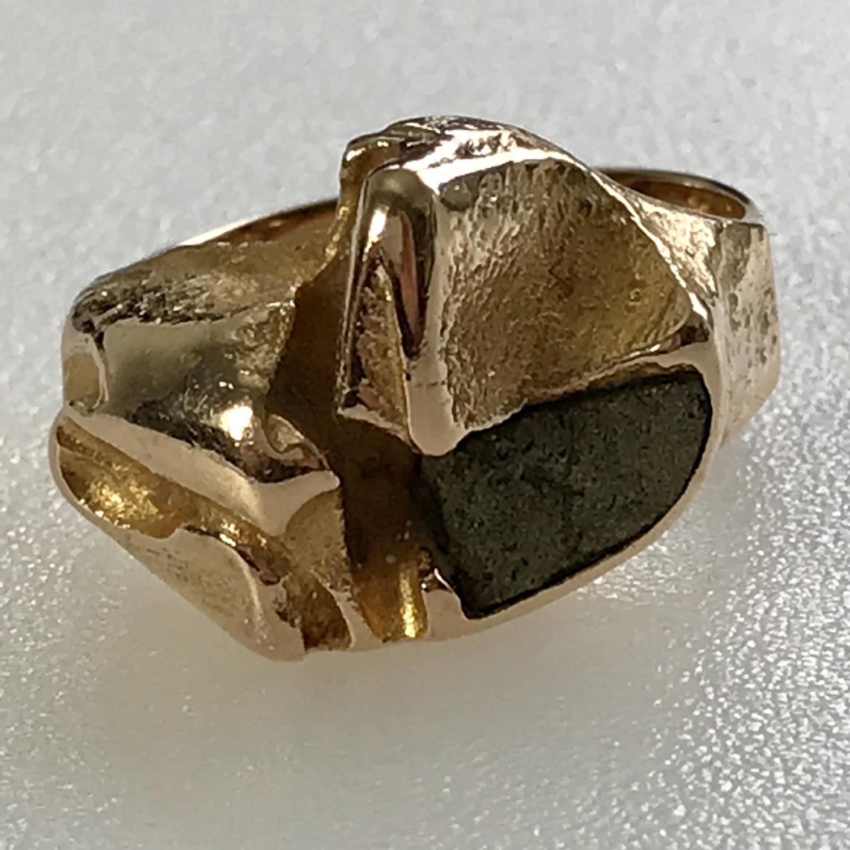 Bjorn Weckström Lapponia 14K Gold Ring Finland 1970