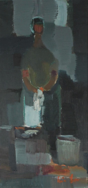 Erik Lo Ohlqvist (1914-2004) Spanish Fisherman, Sweden, 1961