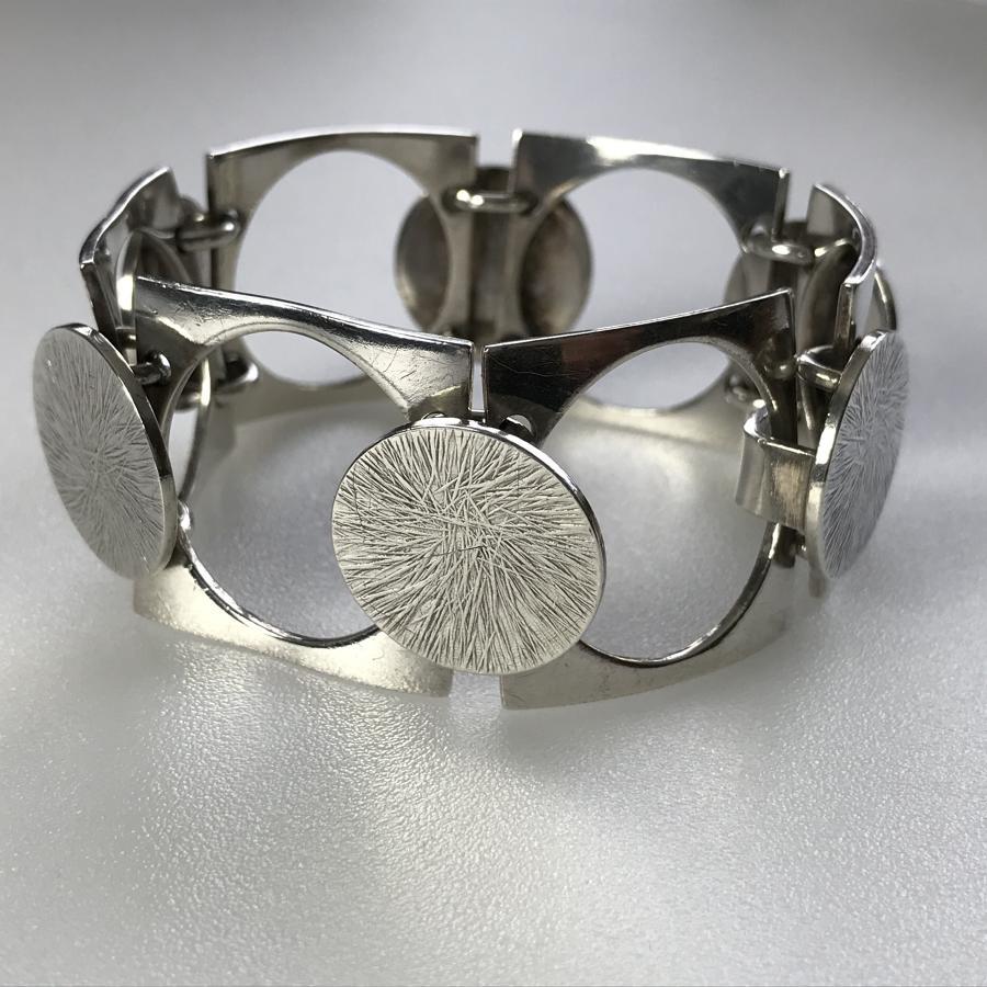 Bent Knudsen Silver Bracelet Denmark 1960s