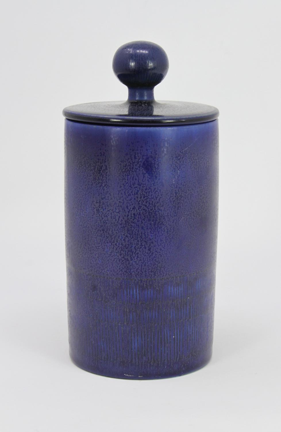 Hertha Bengtson Unique lidded pot Rorstrand Sweden 1959