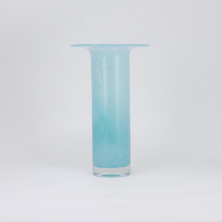 John Orwar Lake Ekenas turquoise glass vase Sweden 1950s