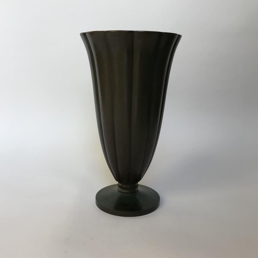Patinated Bronze Vase Just Andersen GAB Sweden Art Deco 1930s