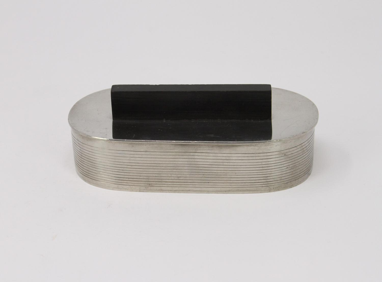 Folke Arström GAB Pewter cufflinks box Art Deco 1930s