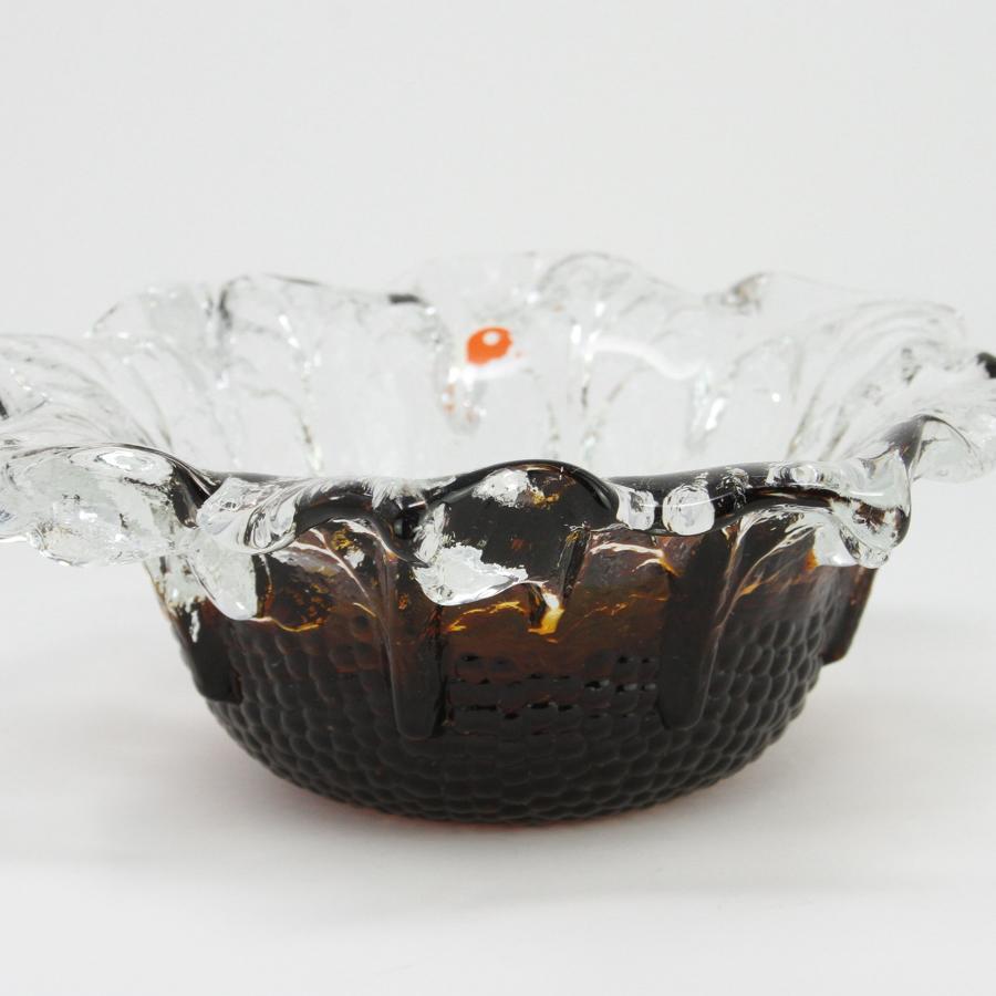 Humppila bowl with leaf pattern Pertti Santalahti Finland 1970s