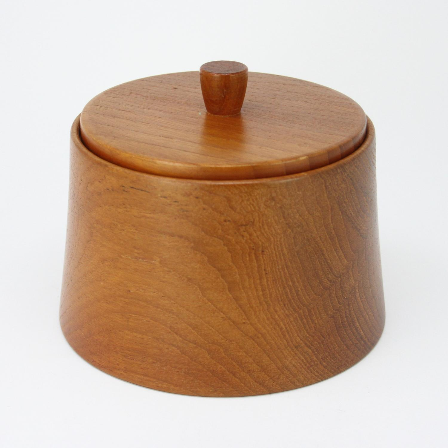 Danish teak lidded box 1960s