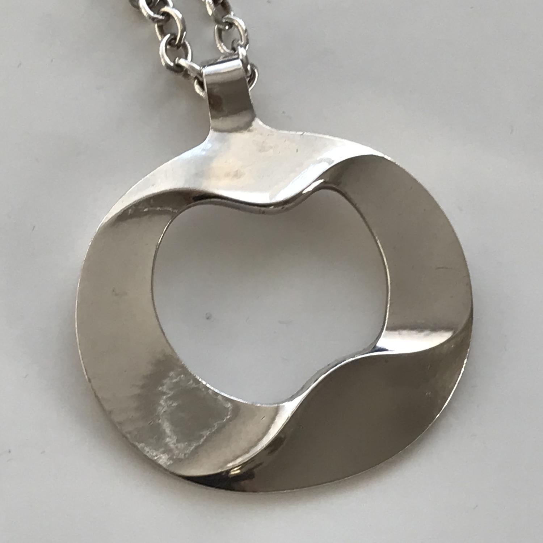Georg Jensen silver pendant design 121 Denmark 1960s