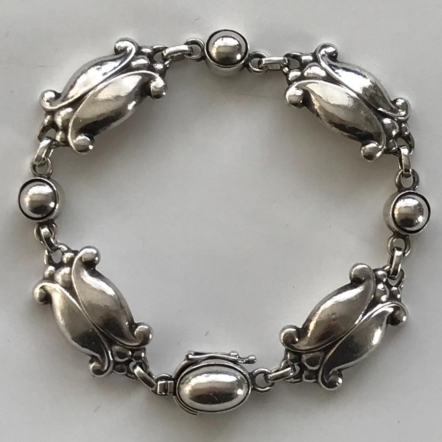 Georg Jensen Moonlight Blossom silver bracelet design no. 11