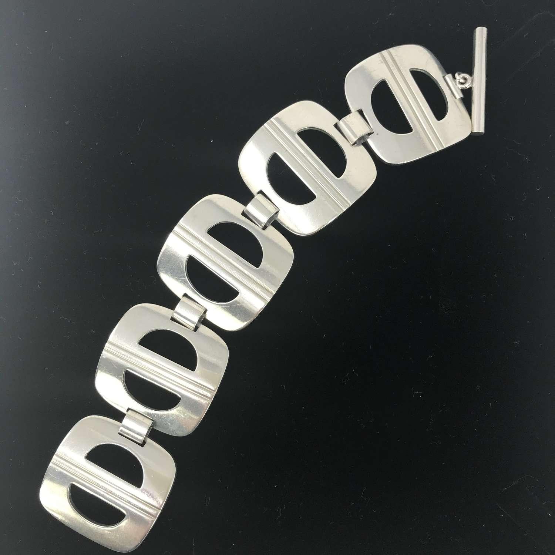 Ibe Dahlquist Silver Bracelet for Georg Jensen, Denmark c1960s