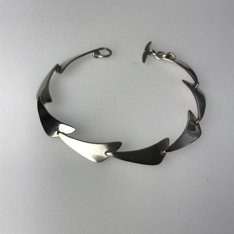 Niels Erik From boomerang links bracelet, Denmark 1970s
