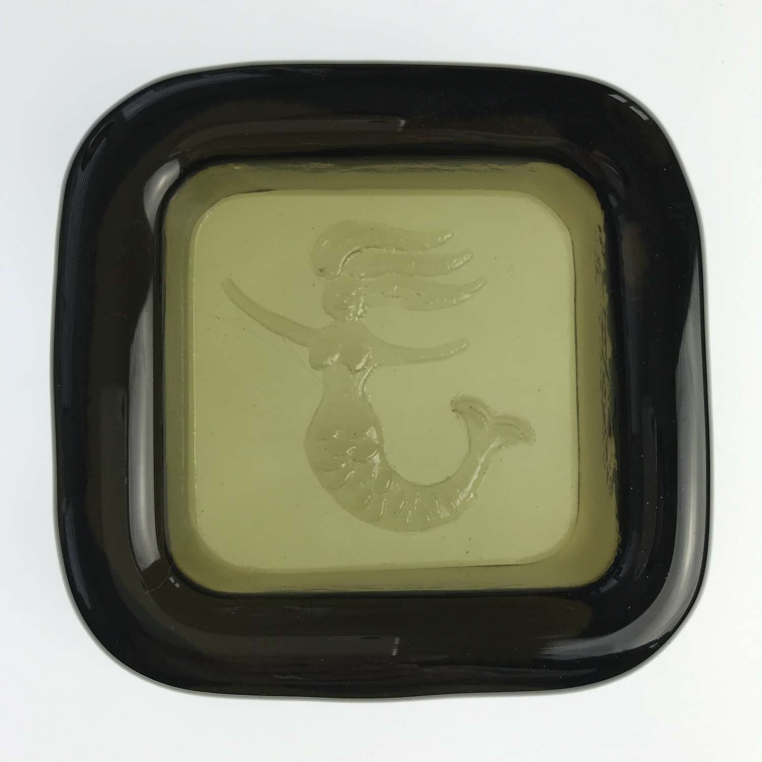 Mermaid dish, Plus glass Norway 1960s