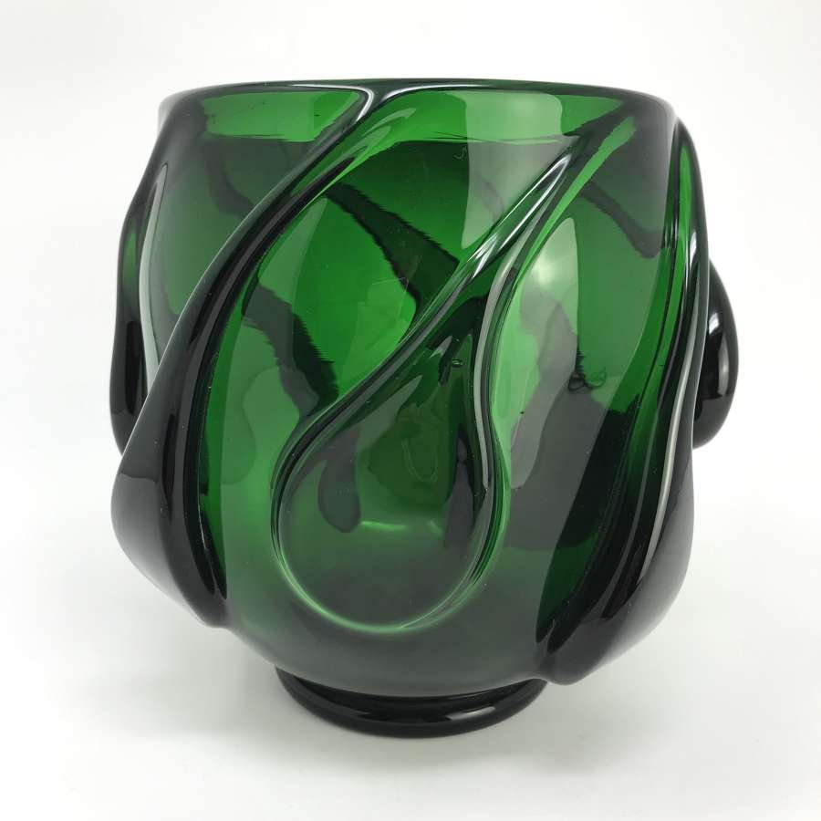 Jacob Bang Early Holmegaard green bowl c1937