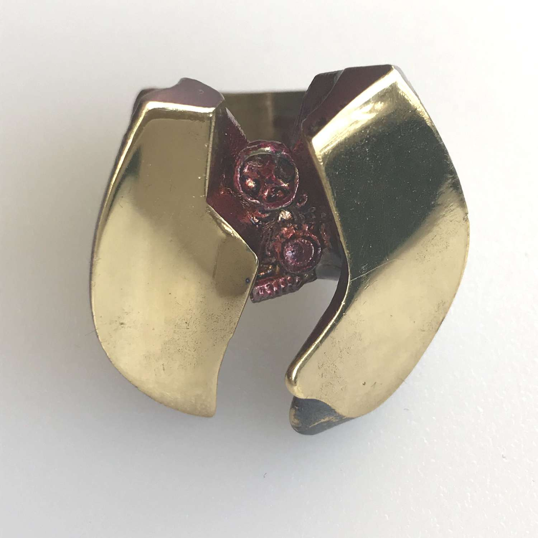 Lapponia Flame Bronze ring by Björn Weckström, Finland 1970s
