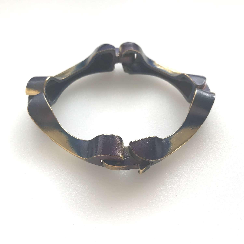 Björn Weckström Lapponia Flame Bronze bracelet, Finland 1970s