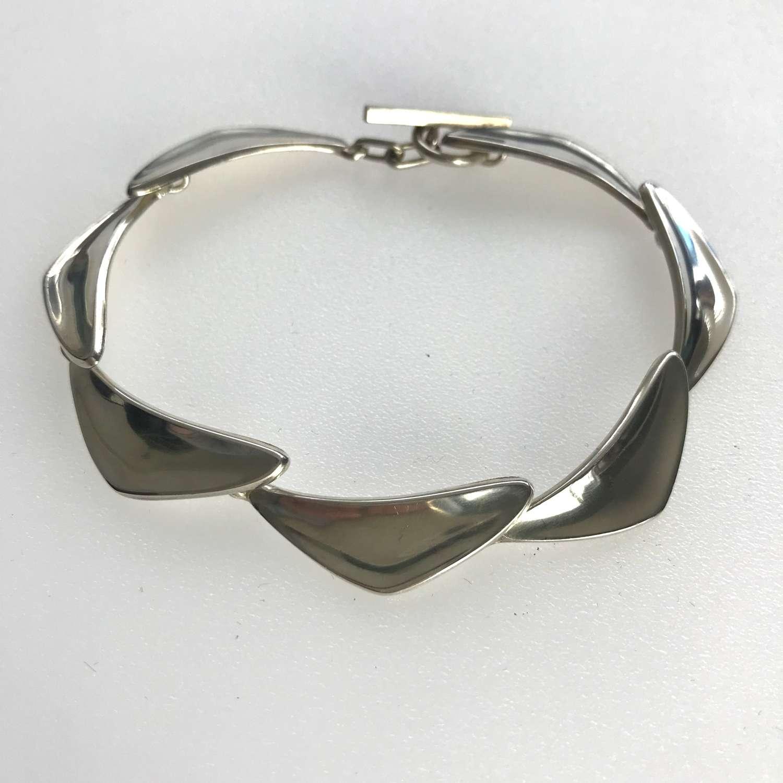 Sterling silver handmade bracelet, Henning Ulrichsen, Denmark 1960s