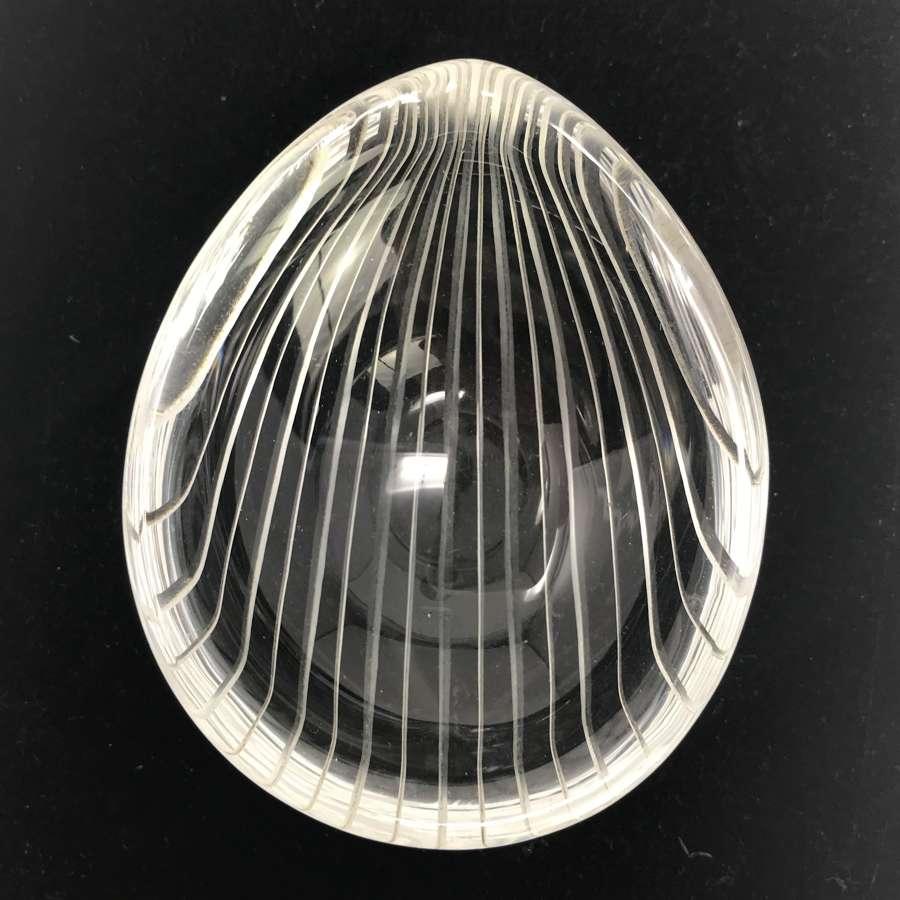 Tapio Wirkkala Chantarelle series small glass object iittala 1950s