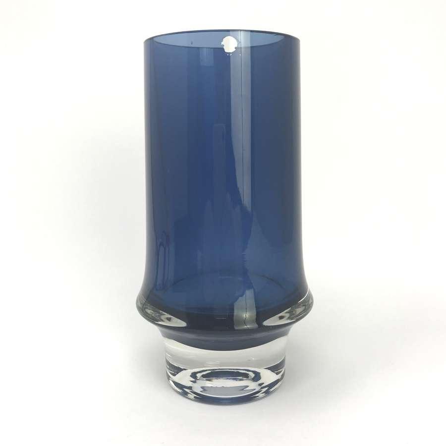 Tapio Wirkkala Blue Glass Vase Iittala 1959