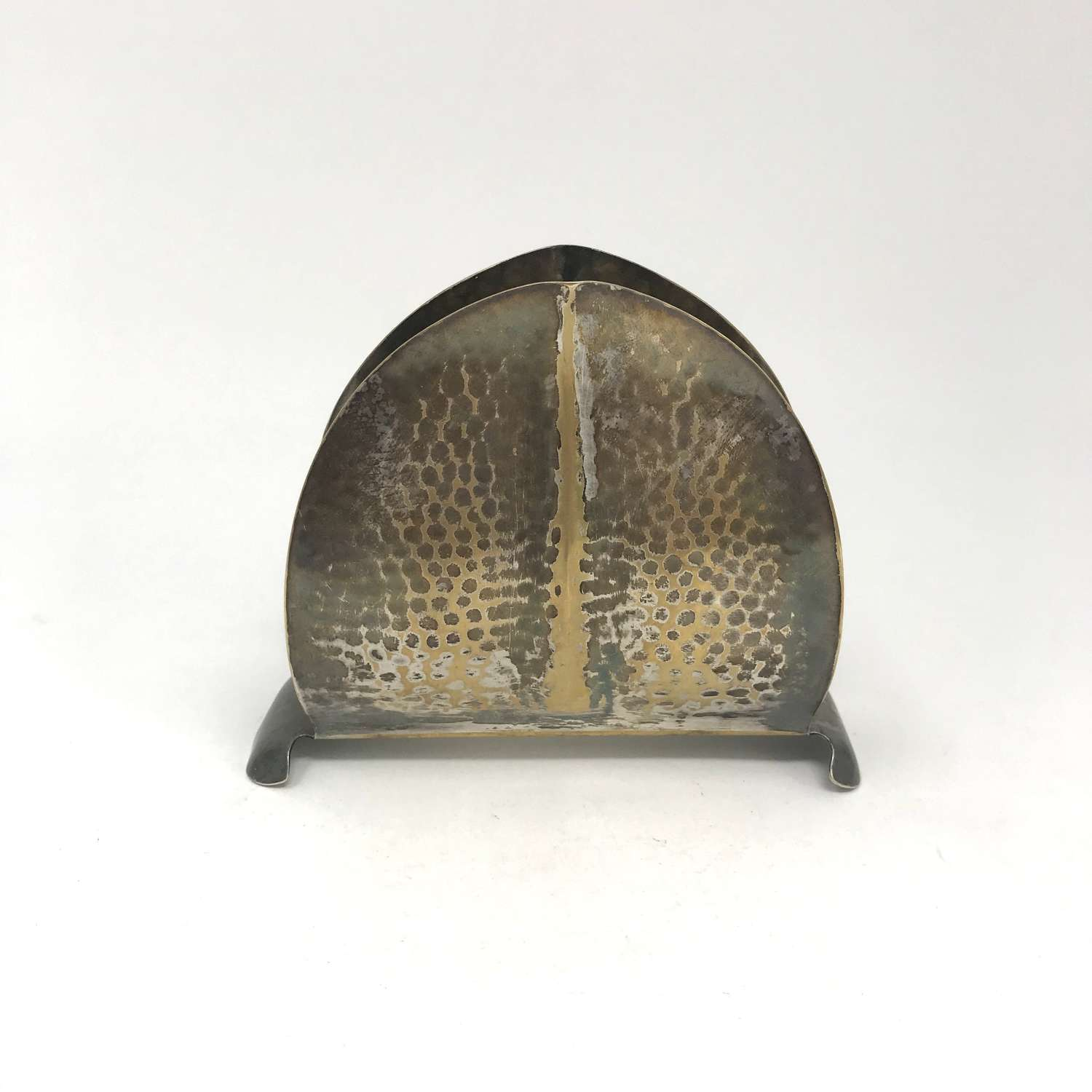 Amsterdam School Patinated Metal Letter Holder 1920s No. 1