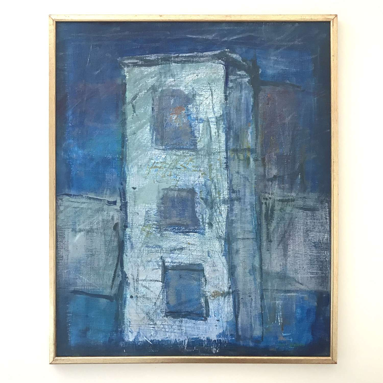 Lars Olofson Blue Hour, Acrylic on Canvas Sweden 1996