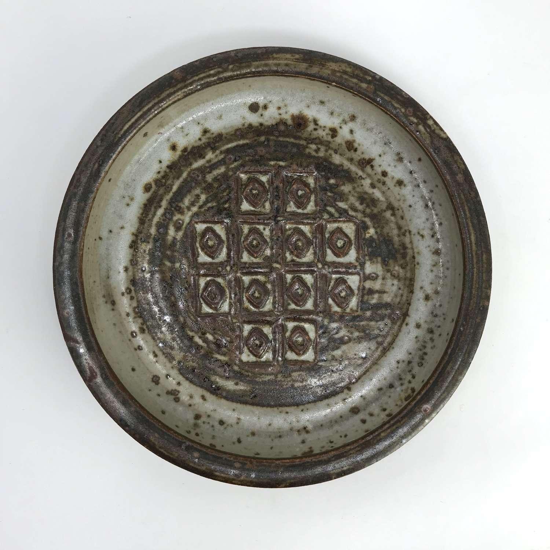 Jorgen Mogensen Ceramic Dish with Abstract Pattern 1960s
