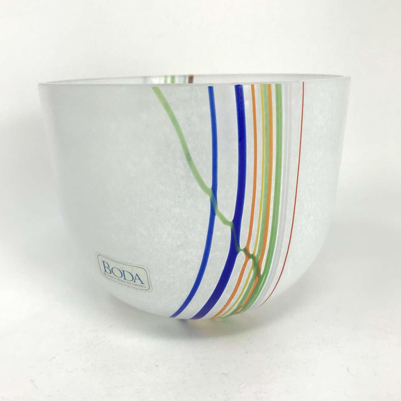 Bertil Vallien Rainbow bowl for Kosta, Sweden 1980s