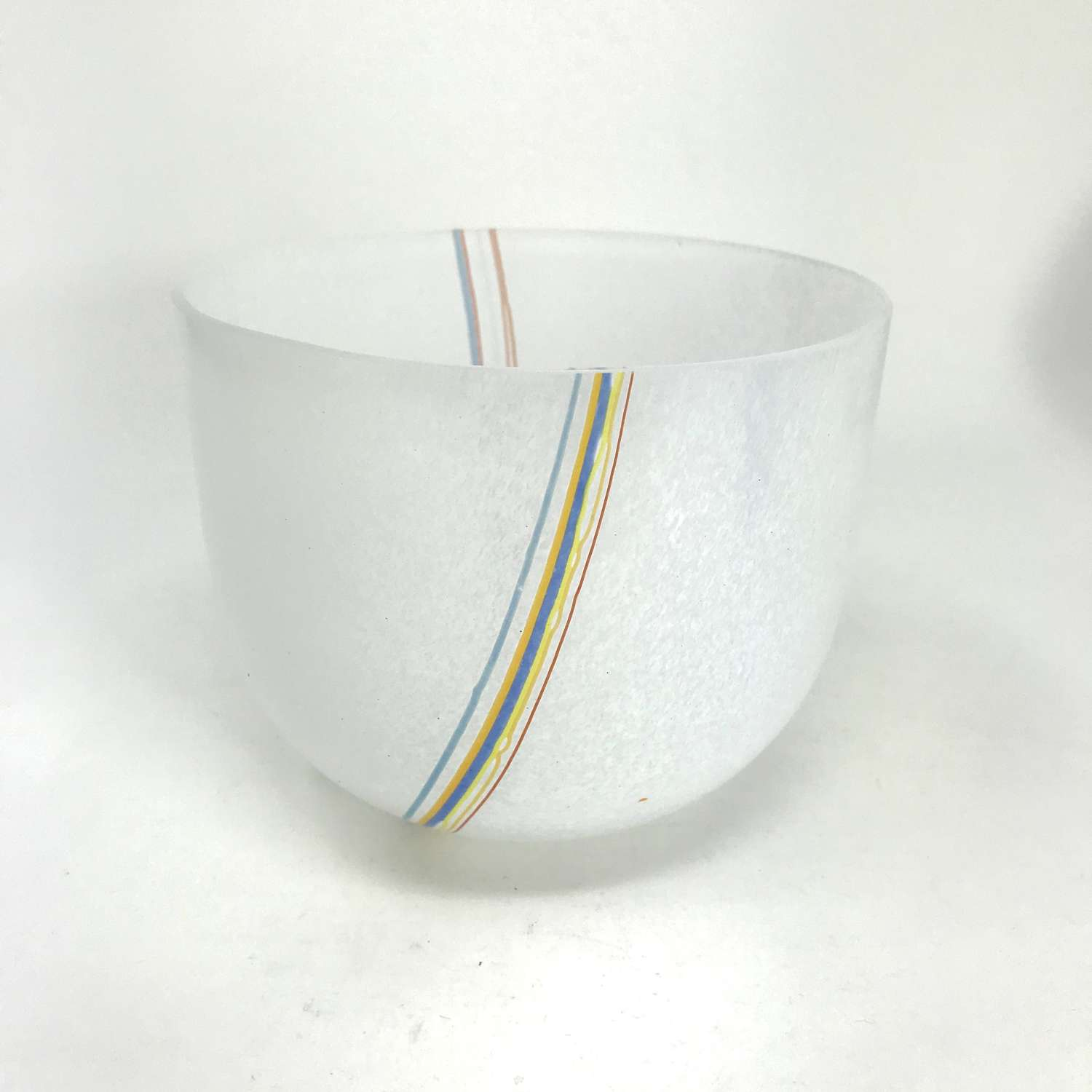 Bertil Vallien Rainbow bowl for Kosta, Sweden 1980s