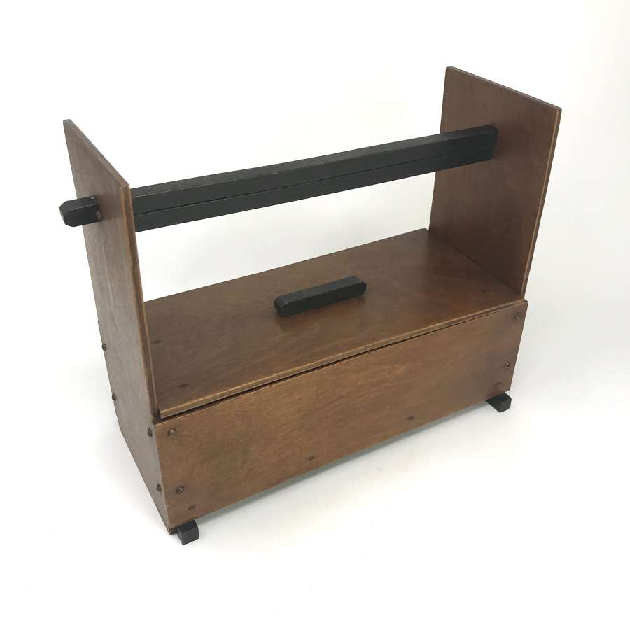 Amsterdam School Modernist Wooden box with Handle c1930s
