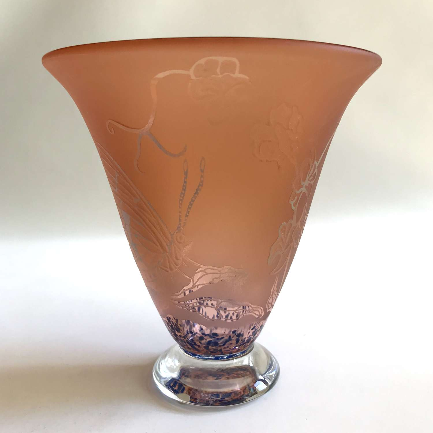 Unique vase by Astrid Gate for Johansfors Sweden 1996