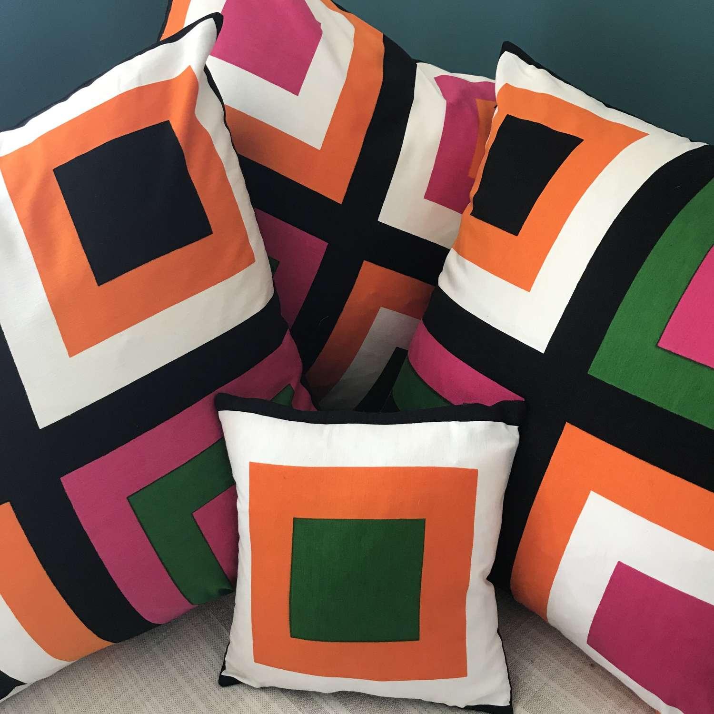 Large cushion covers. 'Pritsi' by Marjatta Metsovaara, Finland 1968