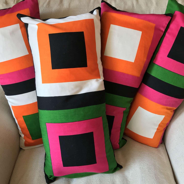 Cushion covers. 'Pritsi' by Marjatta Metsovaara, Finland 1968