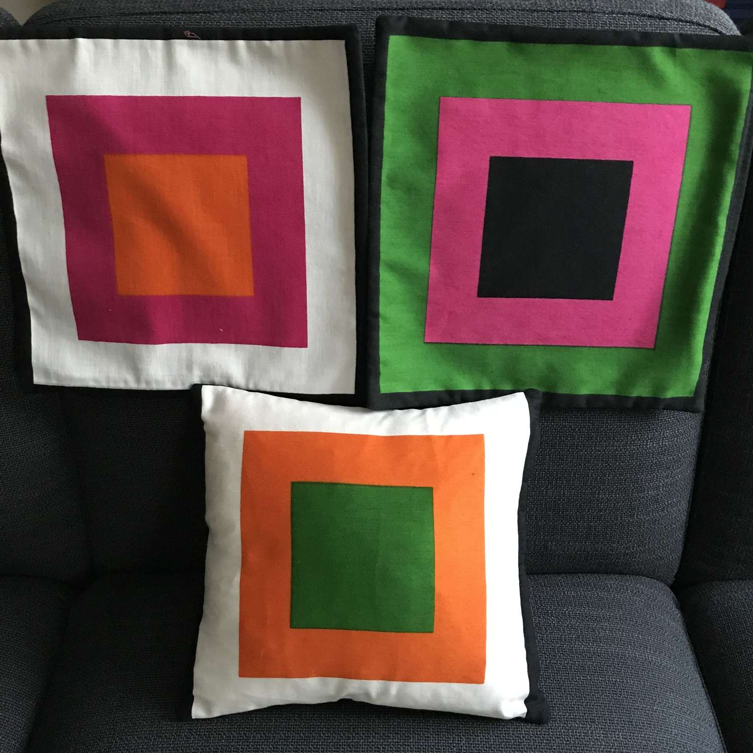 Small cushion covers.'Pritsi' by Marjatta Metsovaara, Finland 1968