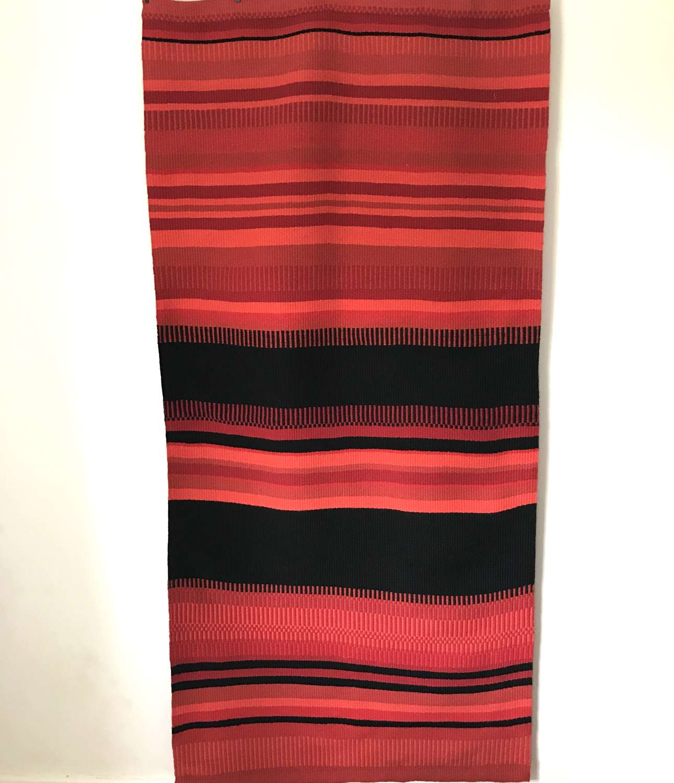Swedish handwoven woollen wall hanging c1970s