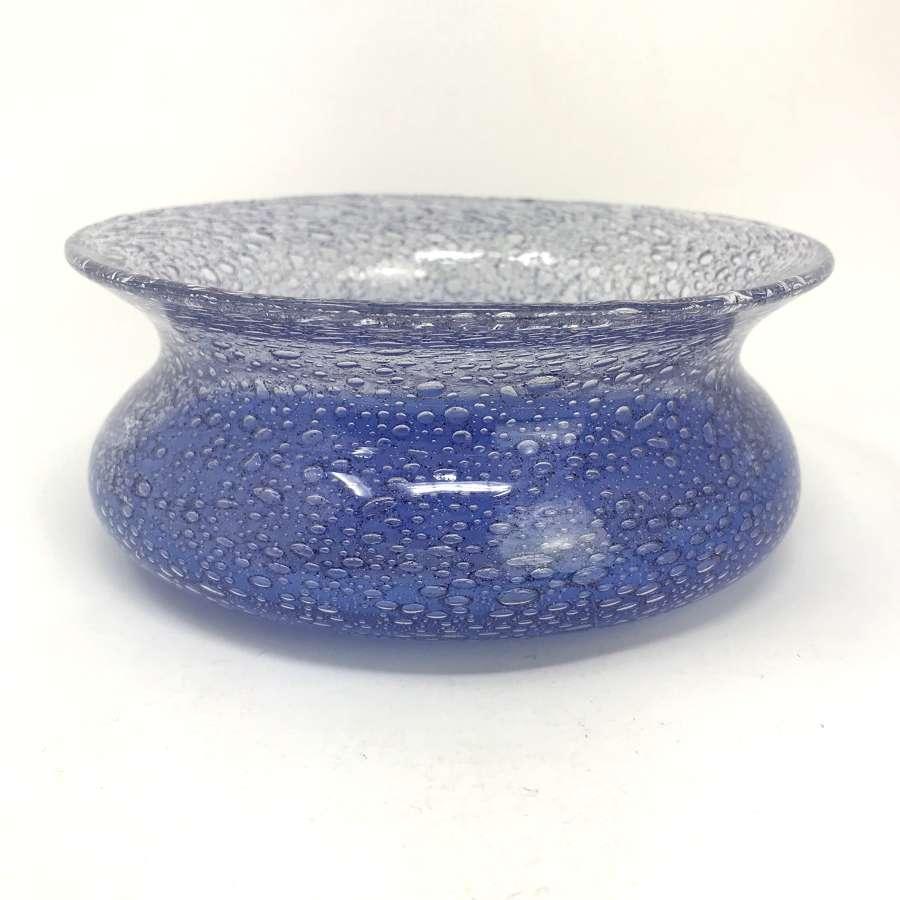 Ingeborg Lundin Blue bubble bowl Orrefors 1960s