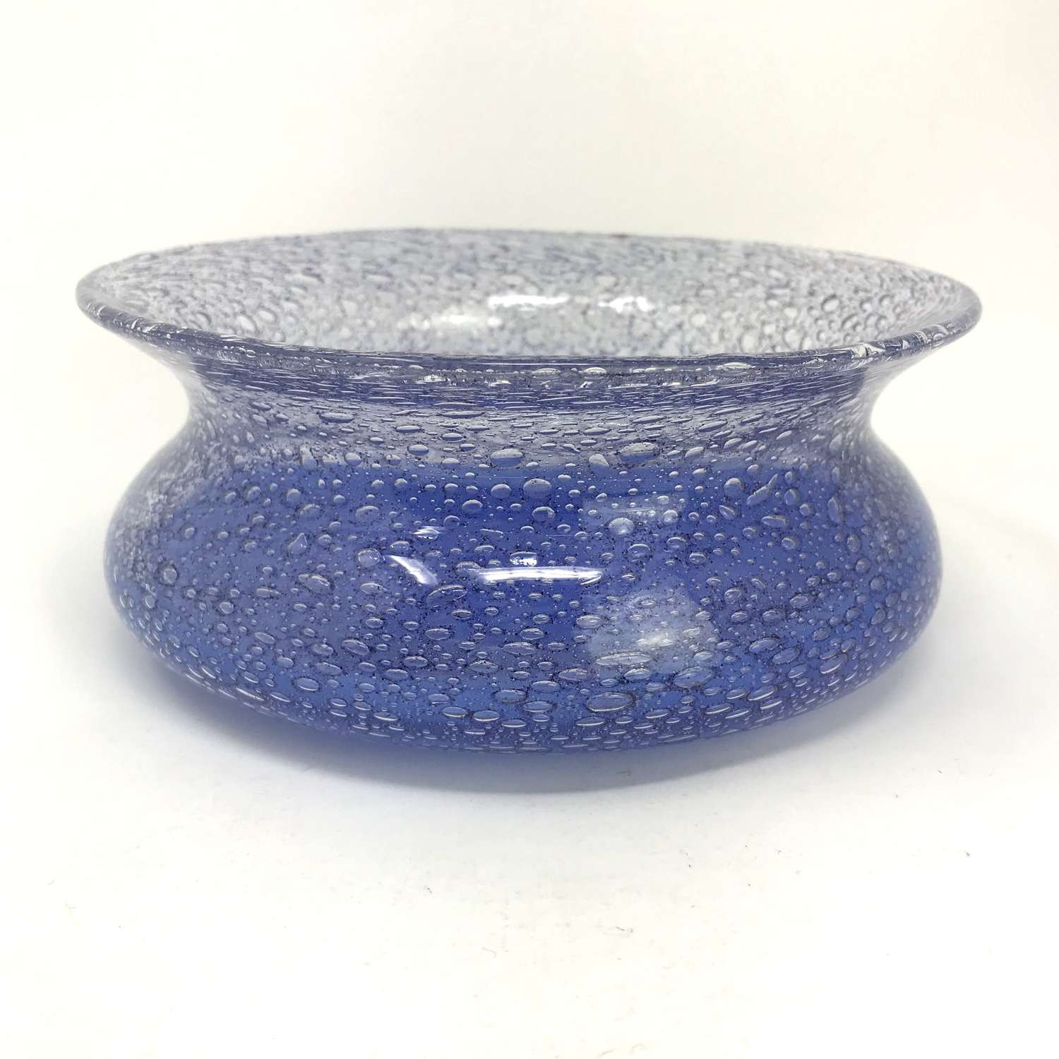 Ingeborg Lundin Blue bubble bowl Orrefors 1960s