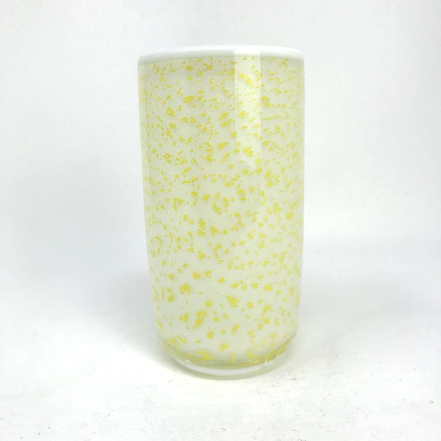 Ingeborg Lundin Yellow and White Expo Vase Orrefors 1968