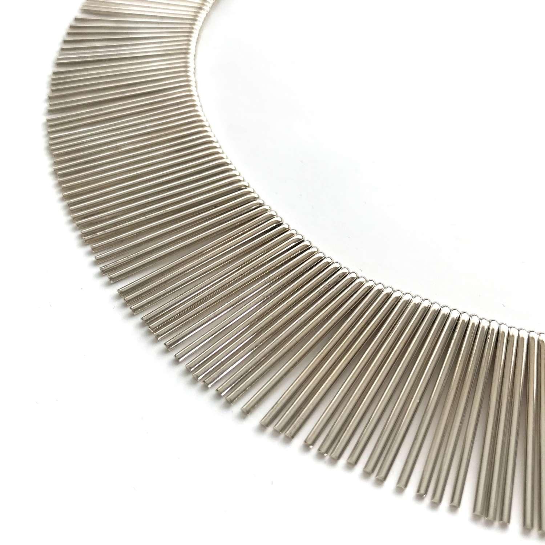 Silver 'Fringes' necklace, Anton Michelsen, Denmark 1960s