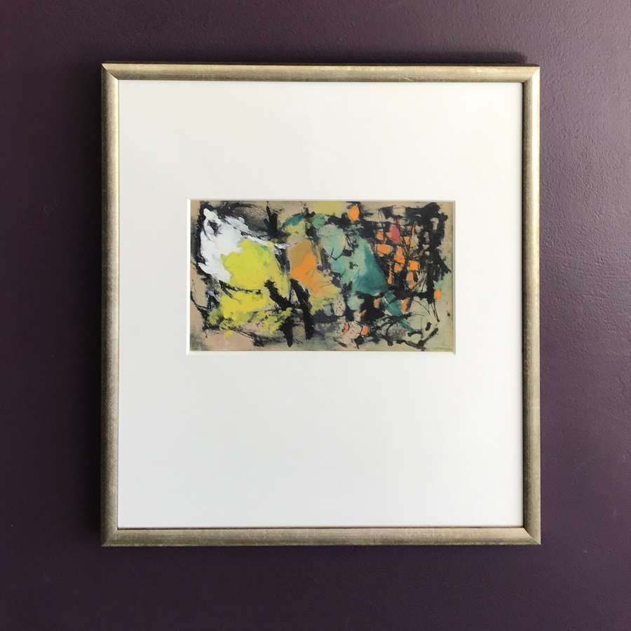 Christer Strömholm Abstract Gouache Sweden 1955