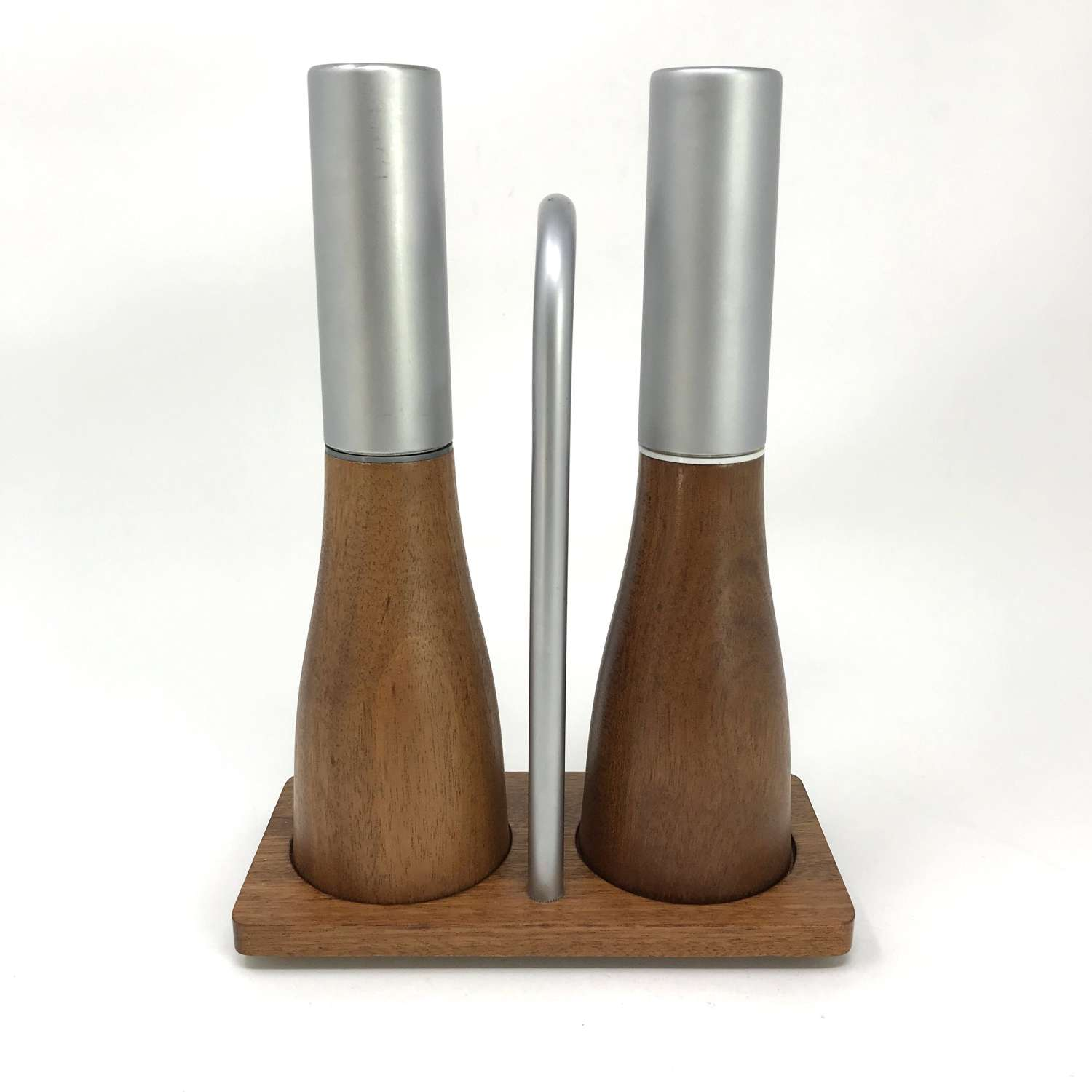 Georg Fontana Bodum salt and Pepper mills with tray Denmark 1990s