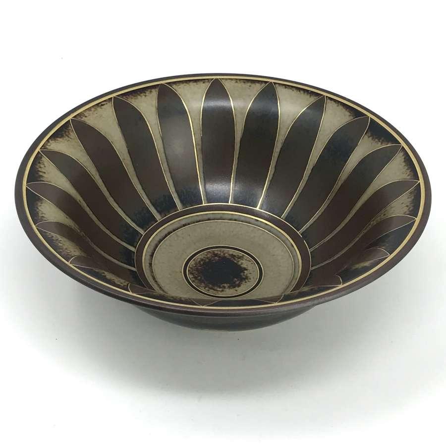 Gunnar Nylund Flambé bowl Rorstrand Sweden 1930s