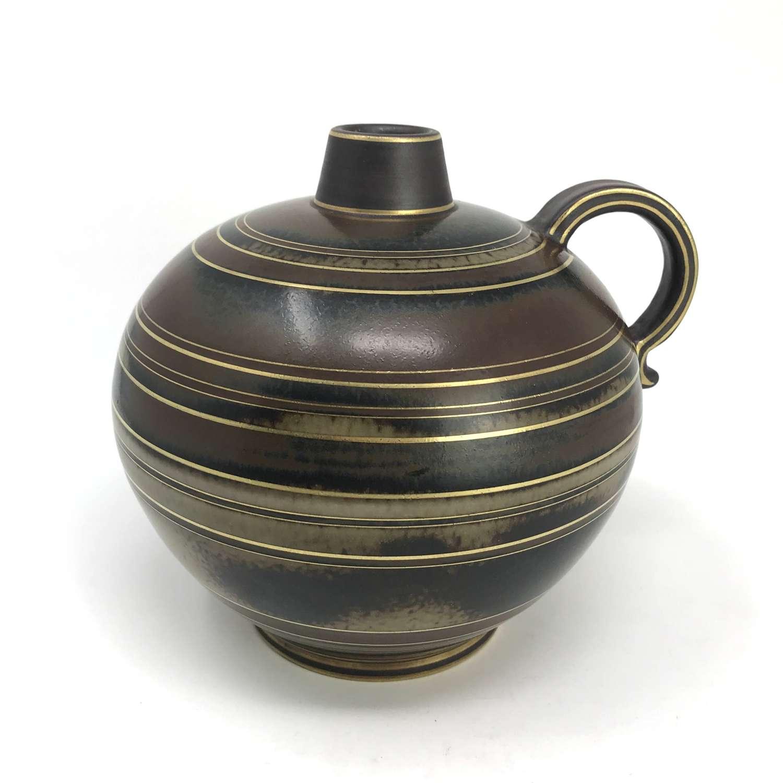 Gunnar Nylund Flambé stoneware jug, Rörstrand, Sweden 1930s
