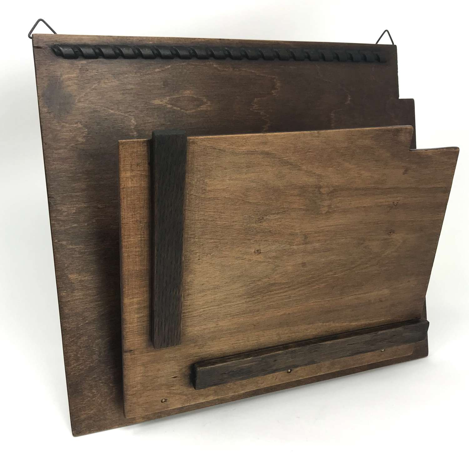Amsterdam School Modernist Wooden Newspaper Holder 1920s