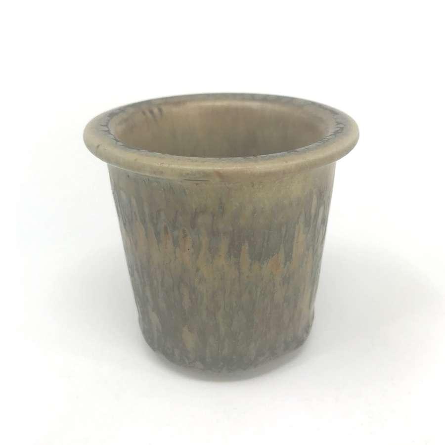 Gunnar Nylund Brown glazed Stoneware pot Nymolle Denmark c1960s