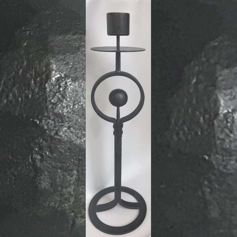 Bertil Vallien floor standing candle holder Boda Smide Sweden 1960s