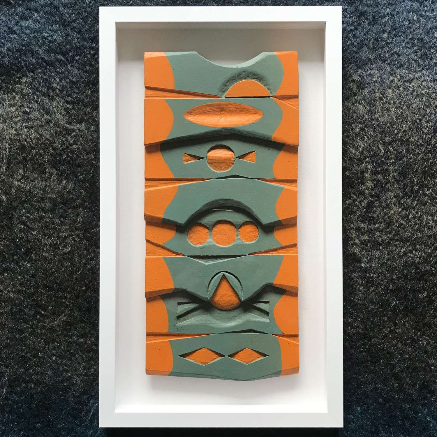 Bengt Malmquist Abstract painted wooden relief Sweden c1960s