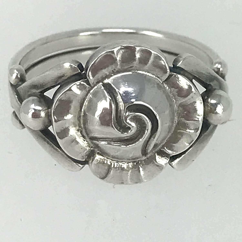 Georg Jensen & Wendel floral ring, Denmark 1945-51