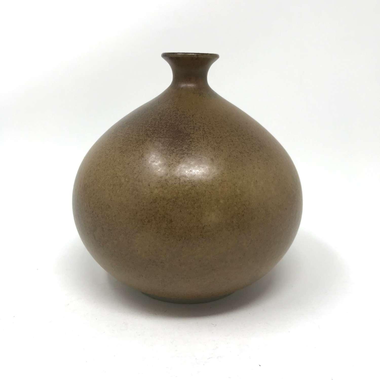 Egon Larsson Hoganas Keramic stoneware vase Sweden 1978