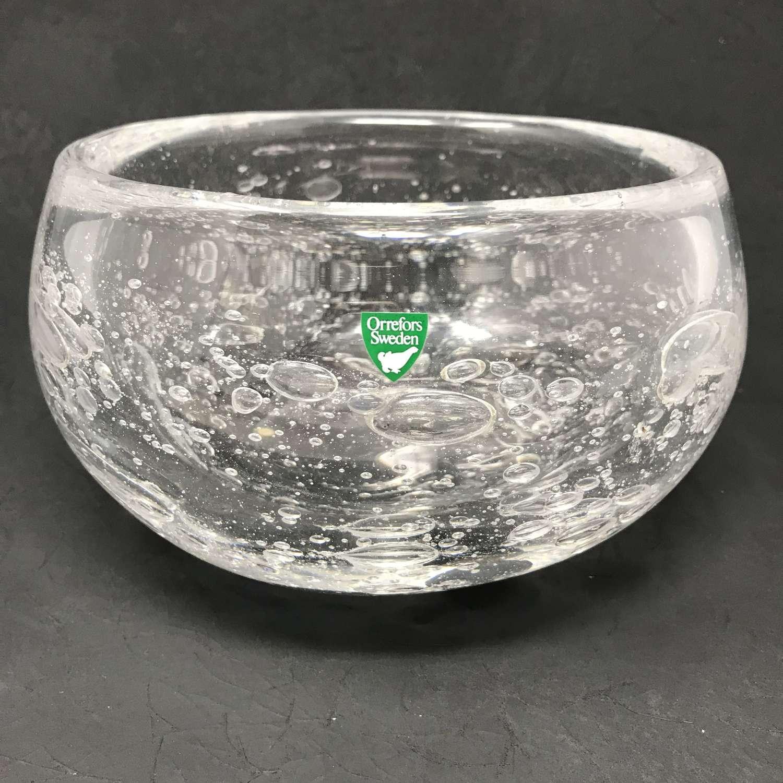 Henning Koppel glass bowl for Orrefors, Sweden 1975
