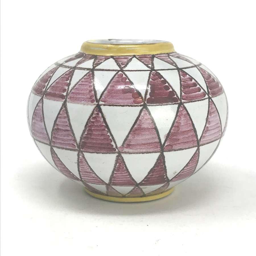 Theodor Bogler Bauhaus Ceramic vase Maria Laach Pottery c1940s