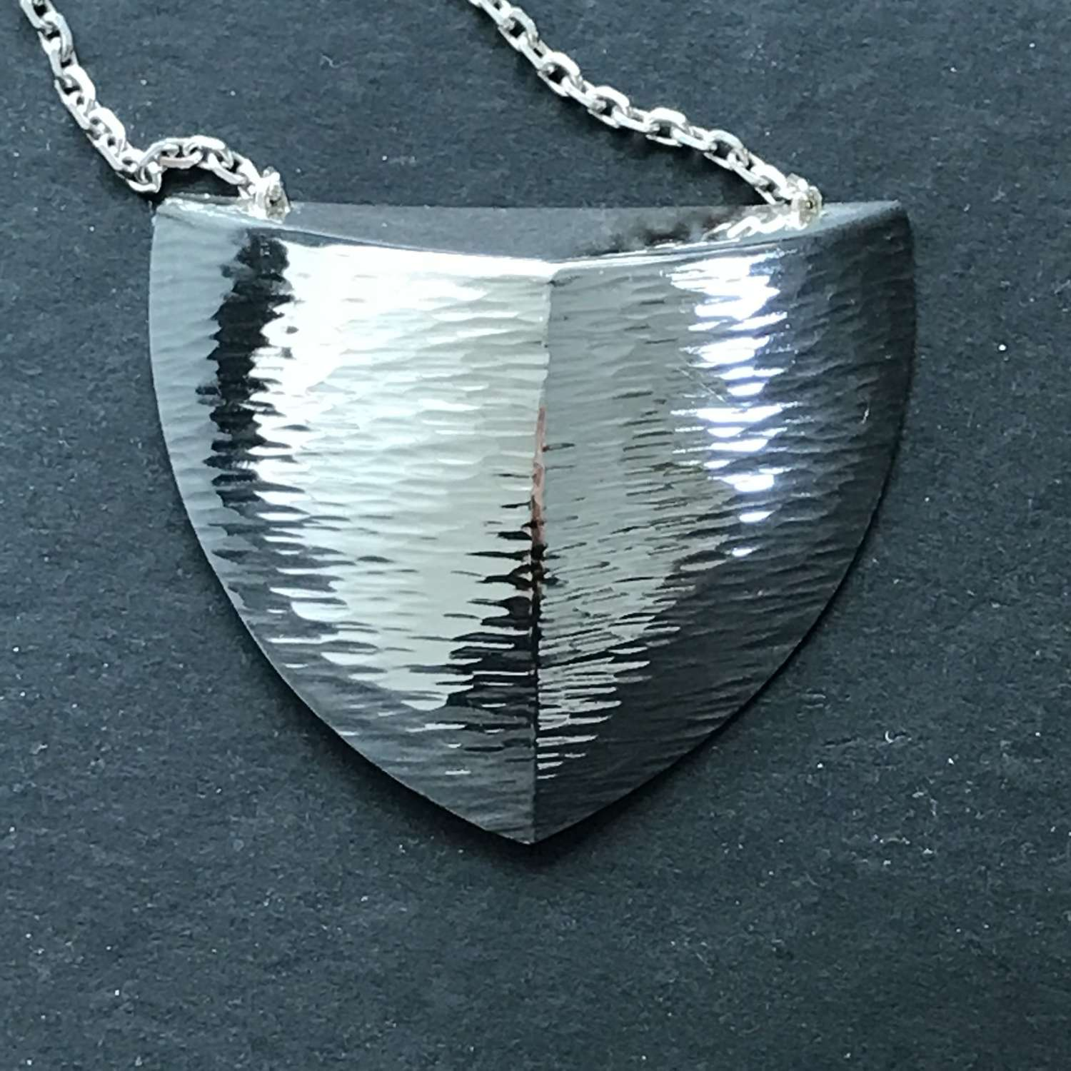 Silver pendant with chain, Staffan Thelin, Sweden 1989