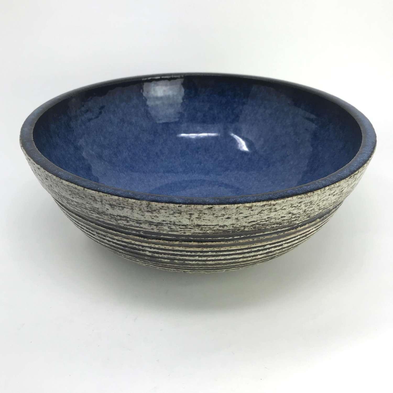 Britt Louise Sundell unique ceramic Bowl Gustavsberg Sweden 1960s