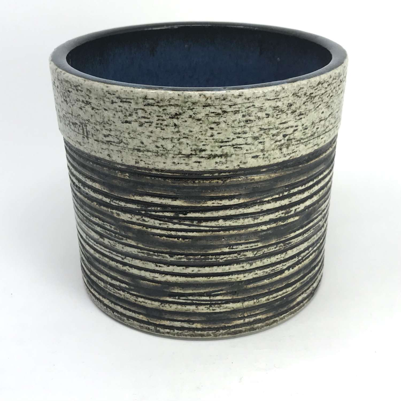 Britt Louise Sundell unique ceramic pot Gustavsberg Sweden 1960s